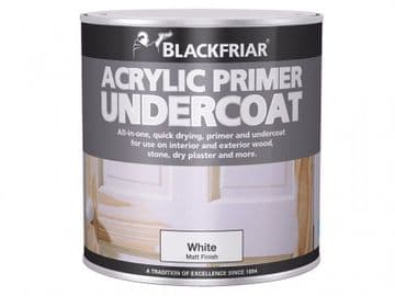 Quick Drying Acrylic Primer Undercoat Grey 1 litre